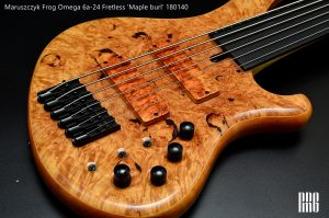 "FROG OMEGA 6a-24 Fretless 35″ ""Maple burl"""